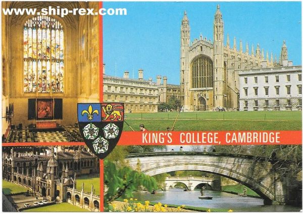 Cambridge, King's College, multi-view postcard